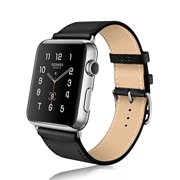Apple watch band, Mignova Genuine Leather iwatch strap Replacement Band with Stainless Metal Clasp for apple watch Series 3, Series 2, Series 1, Sport, Edition (42mm - Black)