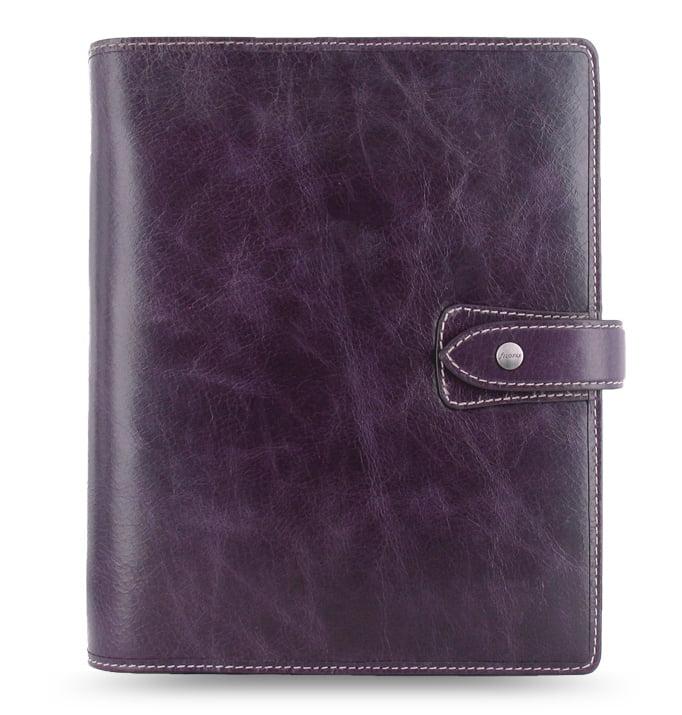 Filofax Malden A5 Leather Organizer Agenda Purple 2017 Diary