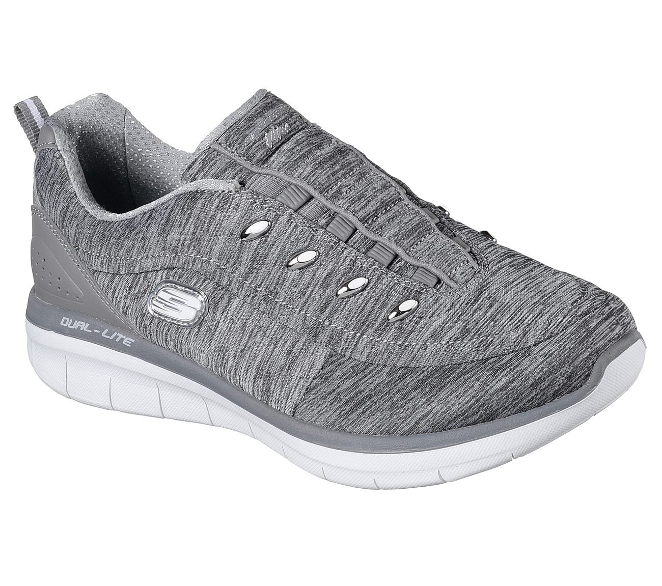 Skechers Synergy 2.0 Scouted Womens Slip On Sneakers Gray 7.5 W