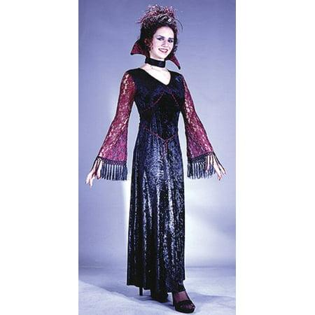 Gothic Halloween Makeup Tips (Fun World Womens 'Gothic Lace Vampiress' Halloween Costume, Black/Purple,)