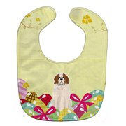 Carolines Treasures BB6035BIB Easter Eggs Saint Bernard Baby Bib