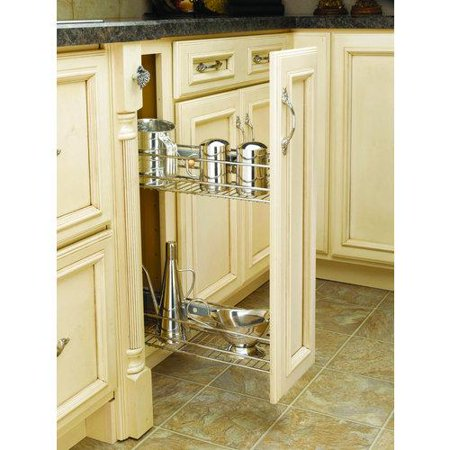 Rev-A-Shelf  548-06  Pull Out Organizers  548  Base Cabinet Organizers  Shelves  ;Chrome