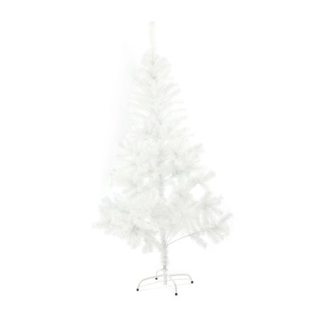 - Baner Garden 7' Classic Premium Artificial PVC Pine Christmas Tree with Plastic Stand Holiday Season Indoor Outdoor, Crystal White Flocked Snow (CH-W10027)