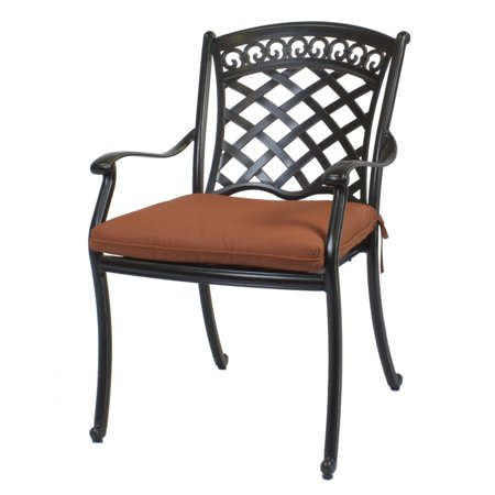 Miraculous St Tropez Cast Aluminum Outdoor Dining Chairs Beutiful Home Inspiration Aditmahrainfo