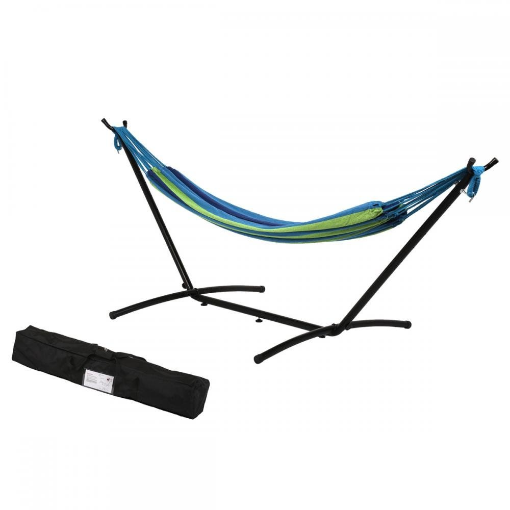 Hammock Stand With Space Saving Steel Stand Includes Carrying Case Blue TM32 by