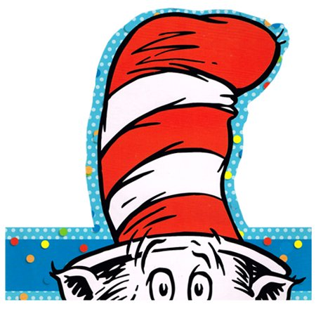 Cat in the Hat Adjustable Headbands / Favors (6ct)](Cat In The Hat Top Hat)