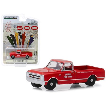 Greenlight 30030 1967 Chevrolet C-10 Fire Pickup Truck, Red Fire Truck Collectibles