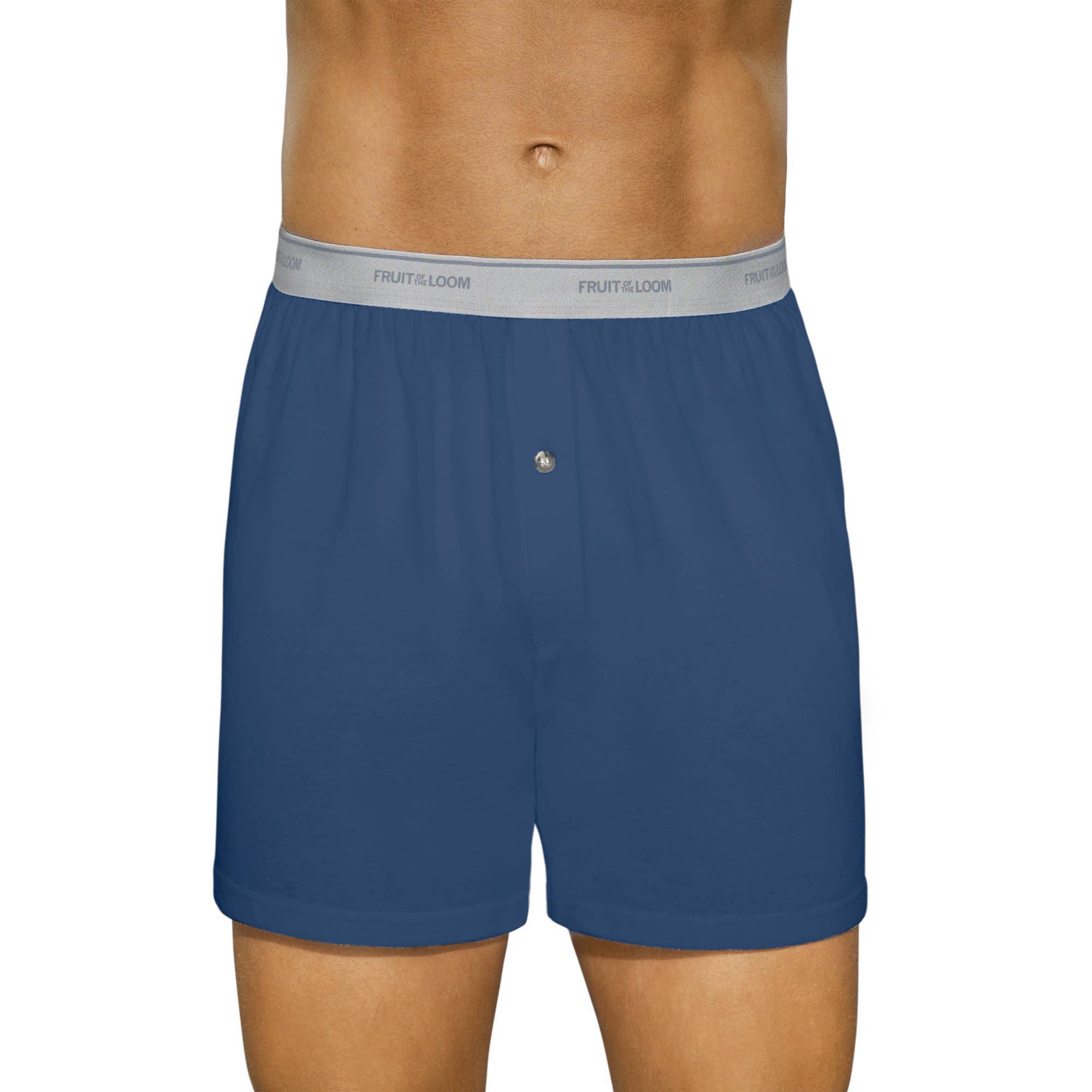 Fruit of the Loom Men's Soft Stretch Waistband Knit Boxers, 5-Pack