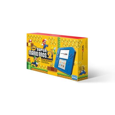 Black Super Balls.com (Nintendo 2DS System with New Super Mario 2, Blue,)