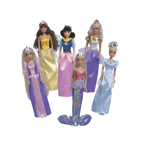 Kid Connection Set of 6 Princess Dolls