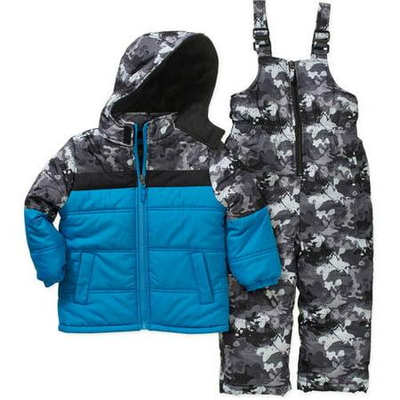 IXtreme Toddler Boy Hooded Jacket and Bib Ski/Snowboard 2-Piece Snowsuit
