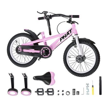 PHAT Kids Bike with Training Wheels, 16 inch Wheels, for Ages 4 to 6 Years - image 2 of 9