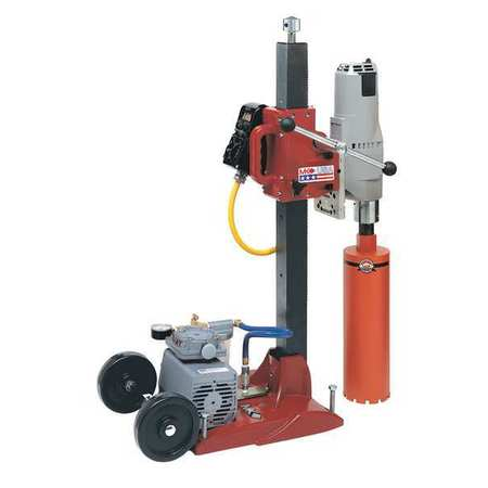 MK Diamond 158640 Manta III Combination Drill Stand with Milwaukee 4097-20 Motor