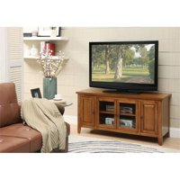 """Bowery Hill 55"""" Sturdy TV Stand in Oak with 4 Door Storage"""
