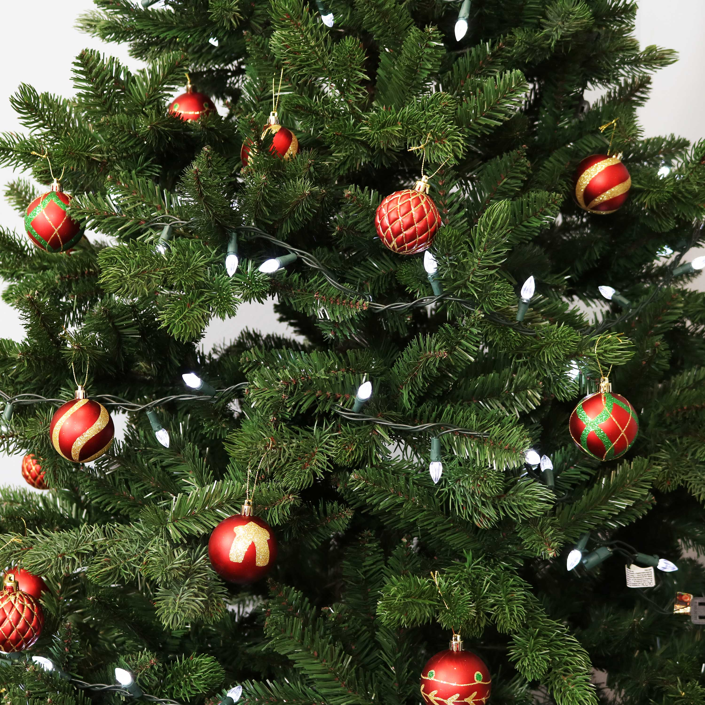 30pc Christmas Tree Balls Baubles Glitter Hanging Xmas Party Ornament Home Decor