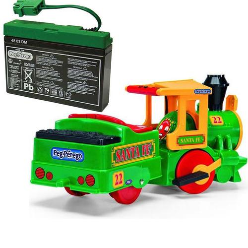 Peg Perego Santa Fe Train Ride On with Spare 6 volt Battery and Charger by