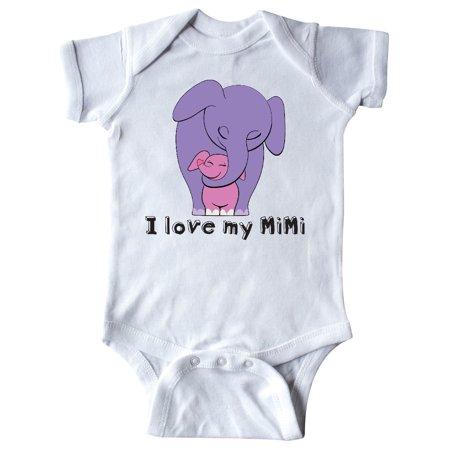 I Love my MiMi Elephant Purple Pink Infant Creeper - I Love My Bff