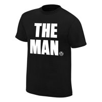 "Official WWE Authentic Becky Lynch ""The Man"" T-Shirt Black Small"