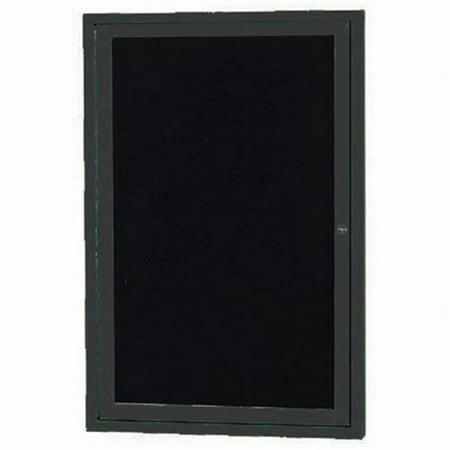 Aarco Products ADC2418BK 1-Door Directory Cabinet - Black