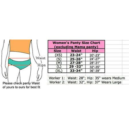 6 pieces Underwear Basic Women Bikini Panty S-XL (Medium)