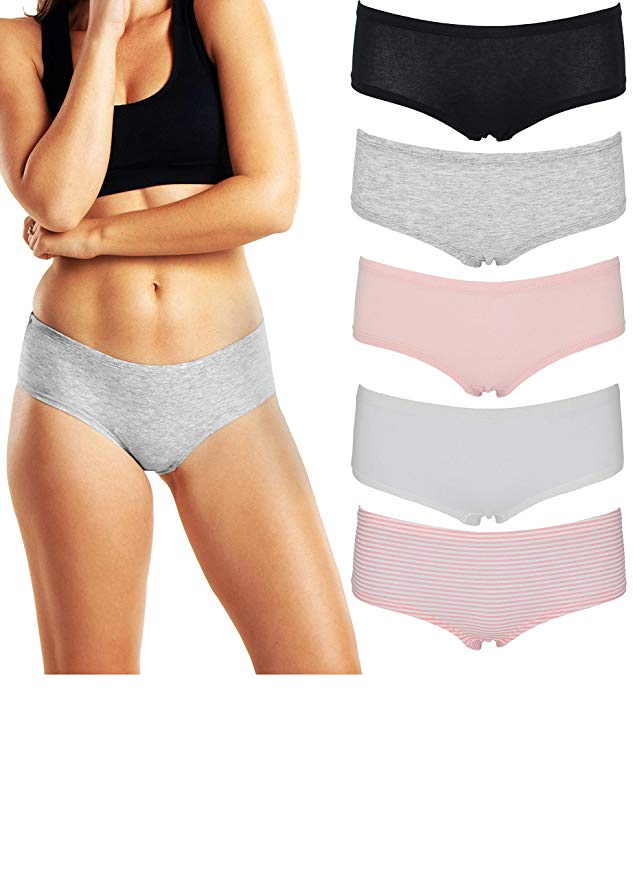 Three New Women/'s Cotton Solid Thong Panties Assorted Color