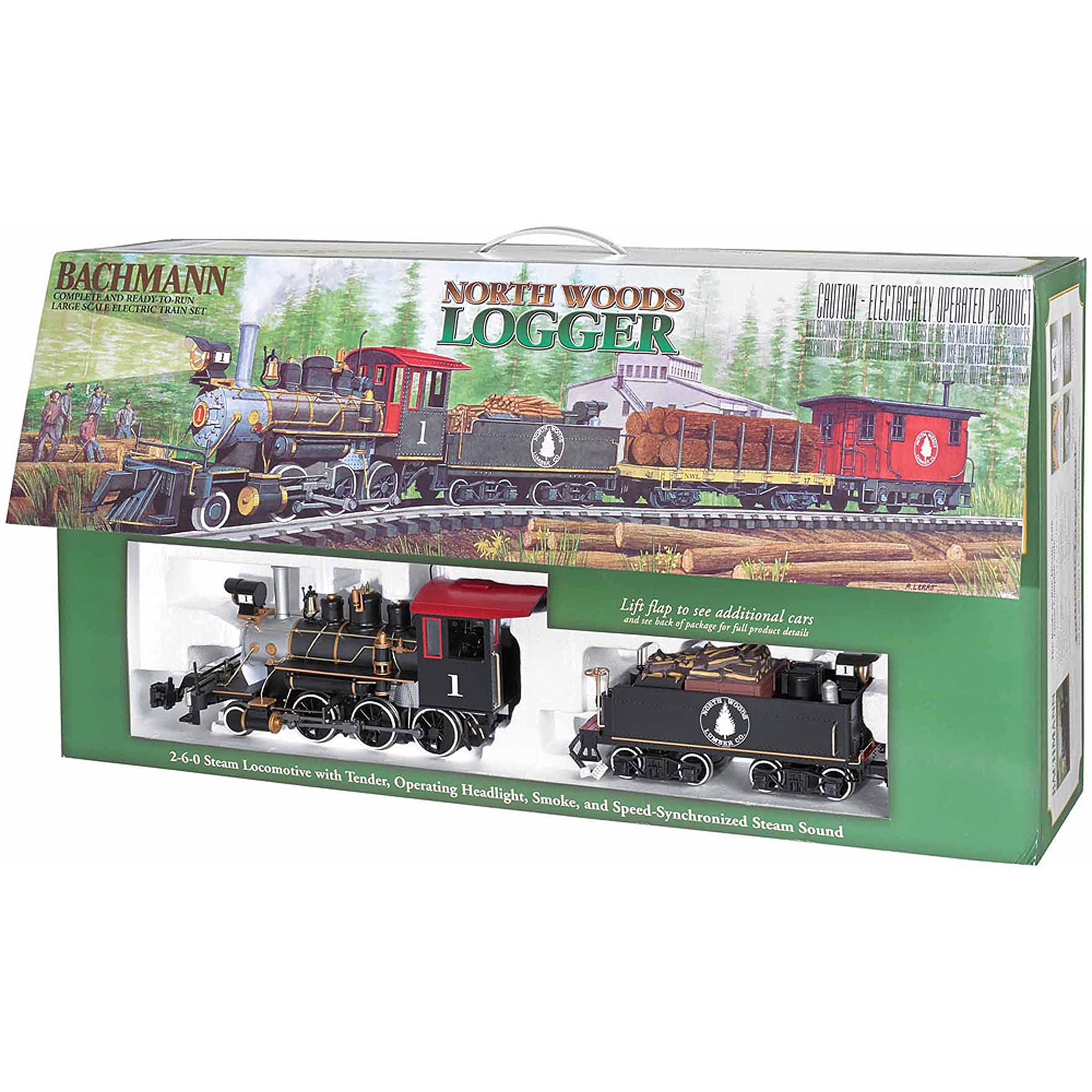 Bachmann Large Scale North Woods Logger Electric Train Set by Heaven and Earth Designs