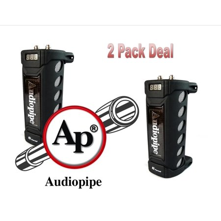2 Pack Audiopipe ACAP-6000 6 Farad Digital Power Capacitor Car Audio