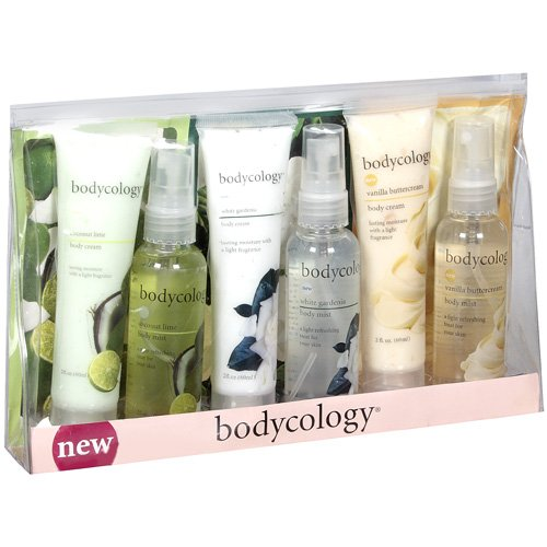 Bodycology: Coconut Lime White Gardenia Vanilla Buttercream Gift Set Variety Pack, 6 ct