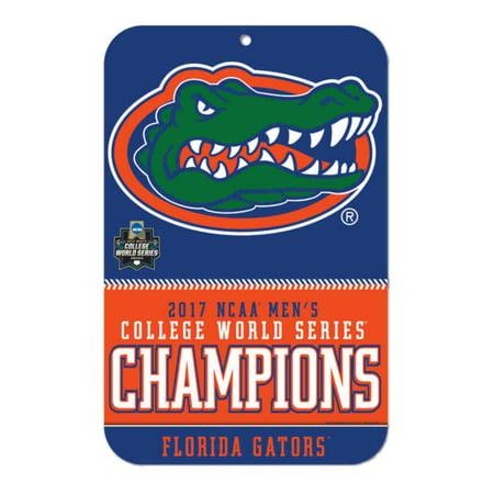 Florida Gators 2017 NCAA College World Series CWS Champions Plastic Wall Sign (College Graduation Signs)