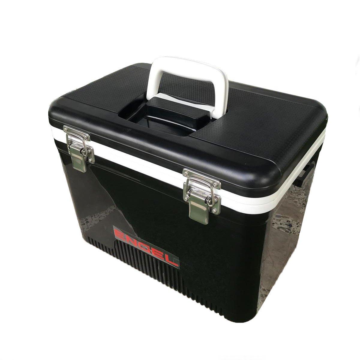 Engel 19 Quart 32 Can Leak Proof Odor Resistant Insulated Cooler Drybox, Black