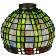 Meyda Tiffany - 27405 - Shade - Jeweled Basket - Green/Blue Xag Clear