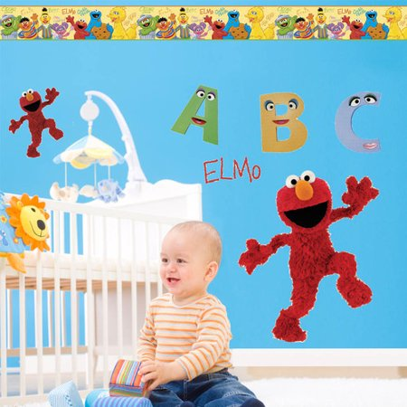 Wallhogs Sesame Street Elmo Room Makeover Wall Decal (Halloween Room Makeover)