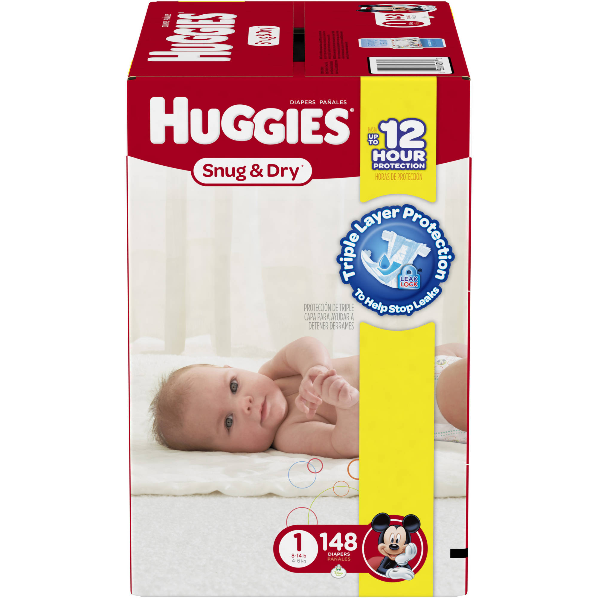 HUGGIES Snug & Dry Diapers, Super Pack, (Choose Your Size)