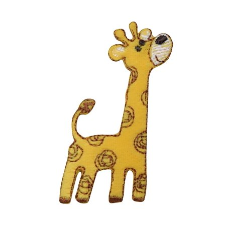 Giraffe - Facing Right - Yellow/Brown Spots - Childrens - Iron on Applique/Embroidered Patch