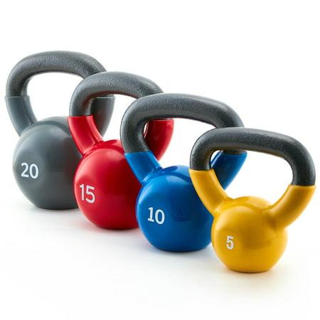 XPRT fitness 50 lb. Vinyl Kettlebell Set