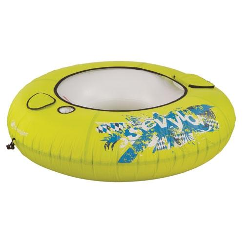 SEVYLOR 3355 Inflatable One-Person Floating River Tube w/ Cup Holder & Cooler