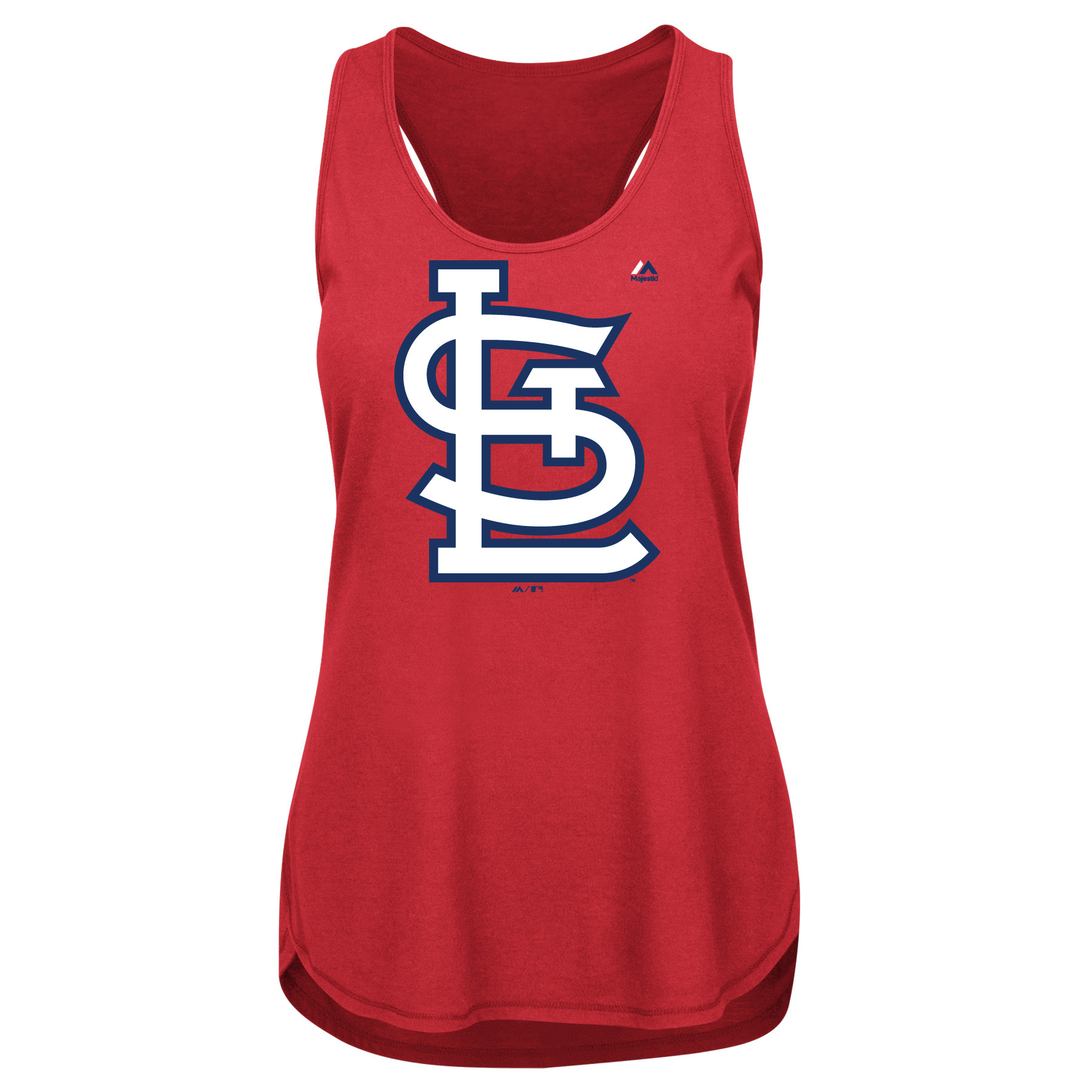 St. Louis Cardinals Majestic Women's Plus Size Tested Tank Top - Red