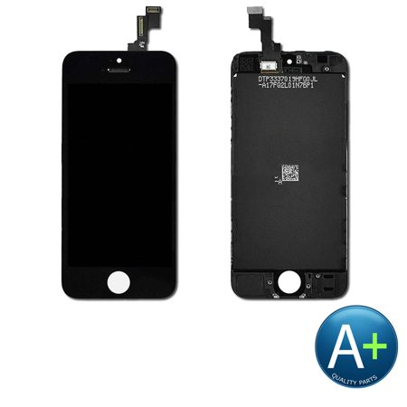 Touch Screen Digitizer and LCD for Apple iPhone 5C Black (A1456, A1507, A1526, A1529, A1532) ()