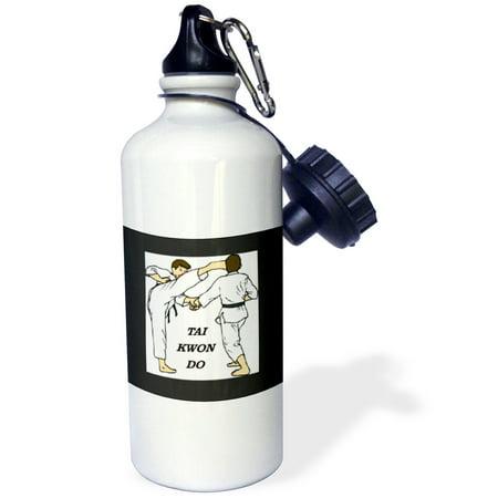 3dRose 2 Boys Practice Tai Kwon Do, Sports Water Bottle, 21oz ()