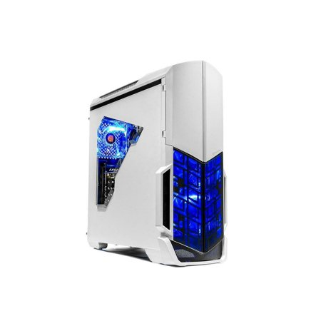 SkyTech Archangel VR Ready Gaming Computer Desktop PC - Ryzen 2600, AMD RX 580 4GB, 8GB DDR4, 500G SSD, Wi-Fi, DVD ROM, Windows 10 Home 64-bit