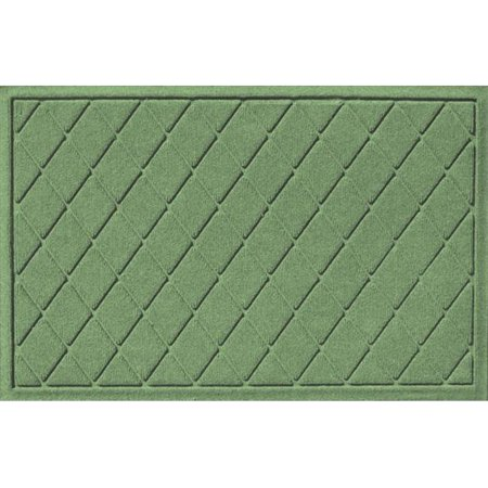 Bungalow Flooring 20377530023 Water Guard Argyle Mat in Light Green - 2 ft. x 3 ft.