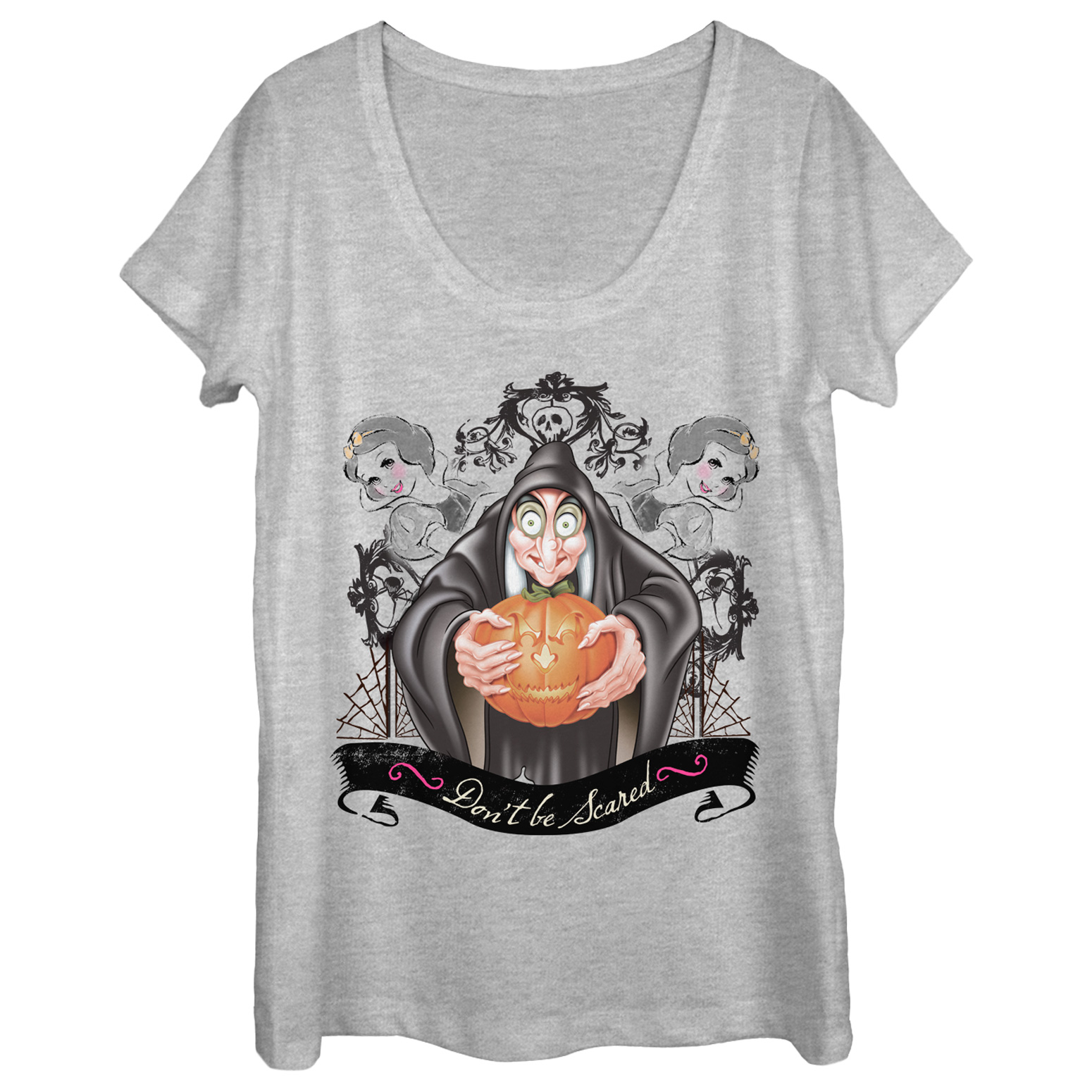 Snow White and the Seven Dwarves Women's Halloween Witch Scoop Neck T-Shirt