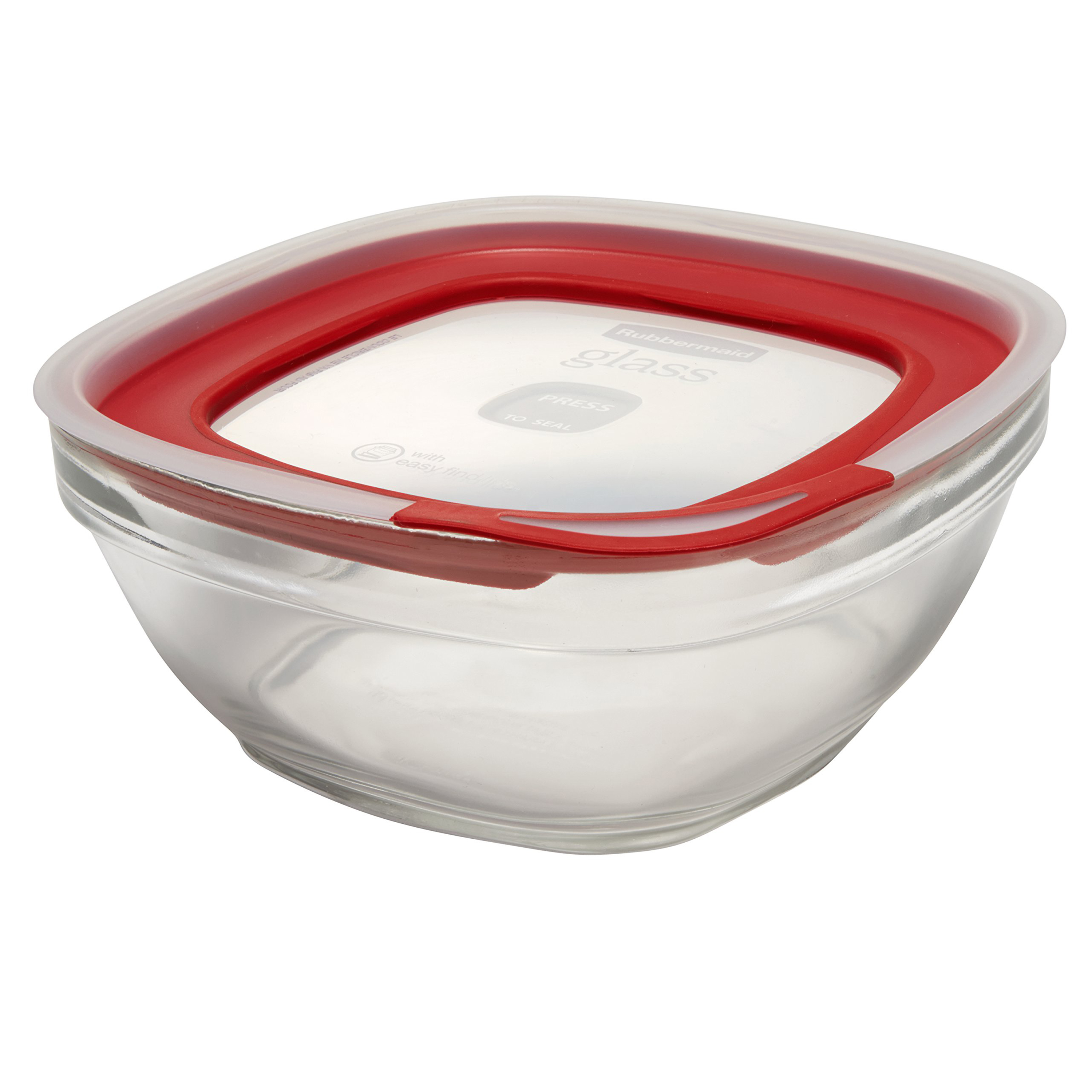 Rubbermaid Easy Find Lids Glass Food Storage Container, 11.5 Cup
