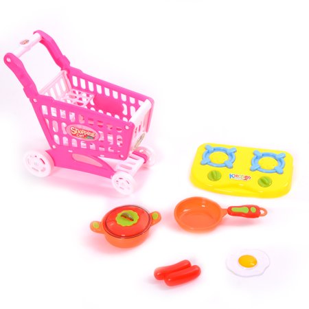 WonderPlay Let's Go Shopping! Mini Deluxe Playset Shopping Cart - Pink WonderPlay Let's Go Shopping! Mini Deluxe Playset Shopping Cart - Pink