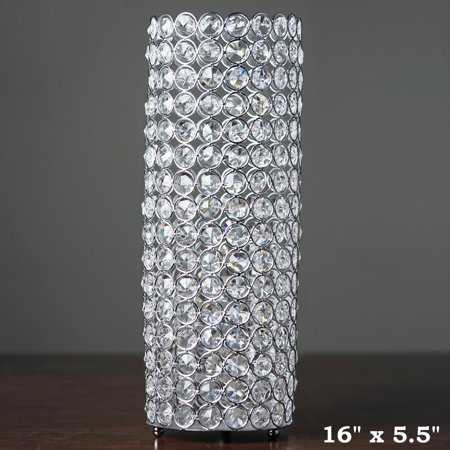 Balsacircle 16 Quot Tall Faux Crystal Beaded Cylinder Shaped