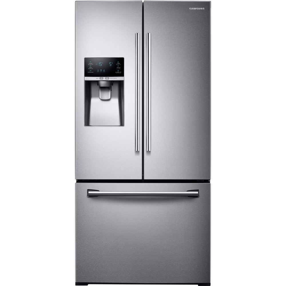 Samsung  RF26J7500SR 33u0022 Wide  26 cu. ft. Capacity 3-Door French Door Refrigerator with CoolSelect Pantry  Twin Cooling
