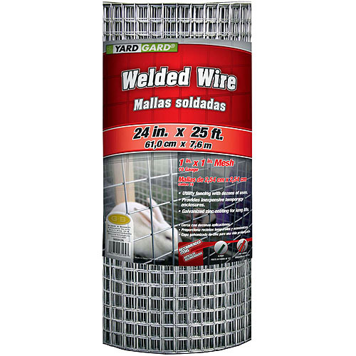 G&B Mat 309312A 24 in x 25' 1 in Mesh Galvanized Welded Mesh Fence
