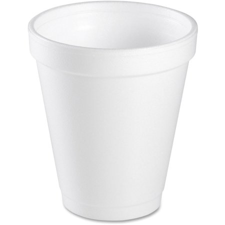 Dart Small Foam Cups - 6 fl oz - Round - 1000 / Case - White - Styrofoam - Coffee, Cappuccino, Tea, Hot Chocolate, Hot Cider, Juice, Soft Drink, Soda, Juice, Smoothie