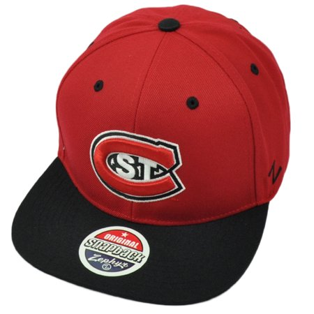 NCAA Zephyr St Cloud State Huskies Red Hat Cap Flat Bill Snapback Adjustable