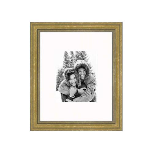 Frames By Mail 16'' x 20'' Frame in Gold Nugget with Gray Wash